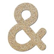 font rough gravel texture ampersand sign - stock photo