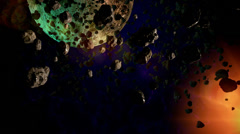 Abstract cosmos scene Stock Footage