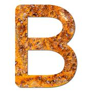 font rusty steel texture alphabet b - stock photo
