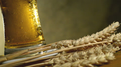 Wheat And Beer, Rotates  Glass Stock Footage