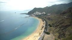 HD1080p50 Playa de Las Teresitas. Tenerife Stock Footage