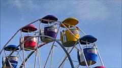 Ferris Wheel cars Stock Footage