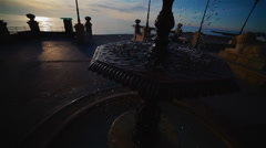 Panorama of the beautiful promenade with a fountain Stock Footage