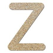 Stock Photo of font rough gravel texture alphabet z
