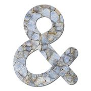 font stone wall texture ampersand sign - stock photo