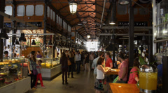 Mercat del Born - Barcelona Spain - Market Stock Footage