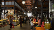 Stock Video Footage of Mercat del Born - Barcelona Spain - Market