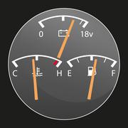 Car gauges detail - stock illustration