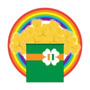 Gold Trinity Shamrock - stock illustration