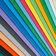 colorful paper arrangement - stock photo
