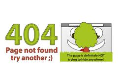 Funny error 404 - Page not found Stock Illustration