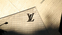 Louis Vuitton Sign 01 HD Stock Footage