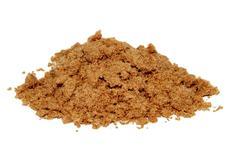 Pile of light brown soft sugar Stock Photos