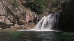 Scenic Fossil Creek Arizona Waterfall Stock Footage