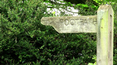 FOOTPATH SIGN Stock Footage