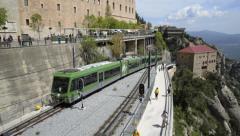 Montserrat Monastery and Railway - Barcelona Stock Footage