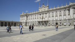The Royal Palace of Madrid, Spain -  1 Stock Footage
