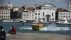 0339 Motorboat ambulance in Venice Stock Footage