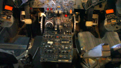 Cockpit of BAC 1-11 or one eleven Stock Footage