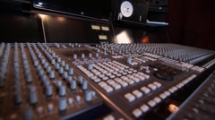 Professional Studio SOund Board Stock Footage