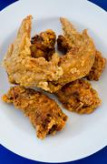 fried chicken fast food - stock photo