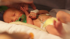Baby in an Incubator Stock Footage