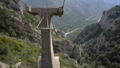 Riding the Montserrat Cable Car - Spain Stock Footage