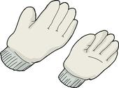 Stock Illustration of generic work gloves