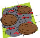 Stock Illustration of isolated burgers on grill