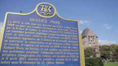 Queen's Park Toronto Ontario Canada Parliment Government Stock Footage