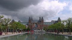 Museum Square - Rijksmuseum Stock Footage