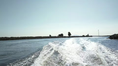 ZB '14 808 - Boat Ride 2 Stock Footage