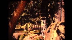 Busch Gardens ,waterwheel Stock Footage