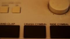 Vintage Drum Machine Buttons - stock footage