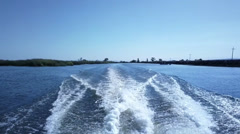 ZB '14 808 - Boat Ride 4 Stock Footage