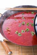 Chinese tomato soup - stock photo