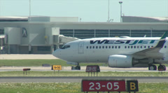 Two Boeing 737's Taxiing Stock Footage