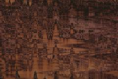 Abstract dark brown canvas - stock photo