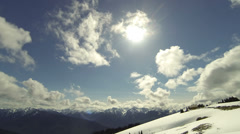 Hurricane Ridge In Olympic National Park With Winter Mountain Snow Stock Footage