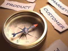 Compass Customer - stock illustration