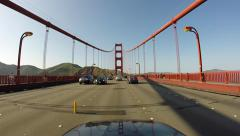 Golden Gate Bridge Driving Time Lapse POV San Francisco in HD 1920x1080 Stock Footage