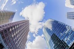 hdr shoot of skyscrapers at potsdamer platz, berlin germany - stock photo