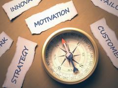Compass Motivation Stock Illustration
