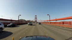 Golden Gate Bridge Driving Point of View San Francisco 30 second clip HD Stock Footage