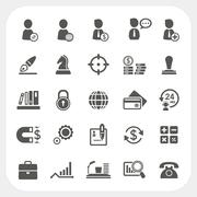 Business, human resource and finance icons set Stock Illustration