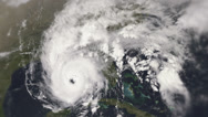 Stock Video Footage of Menacing hurricane seen from space.