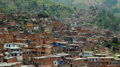 Latin American neighborhood - stock footage