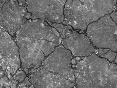Cracked asphalt Stock Photos