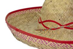 Detail of a wide-brimmed sombrero Stock Photos