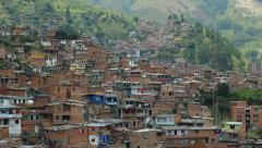 Panorama of Latin American suburb Stock Footage
